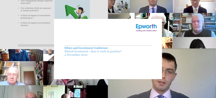 Ethics and Investment Conference November 2020